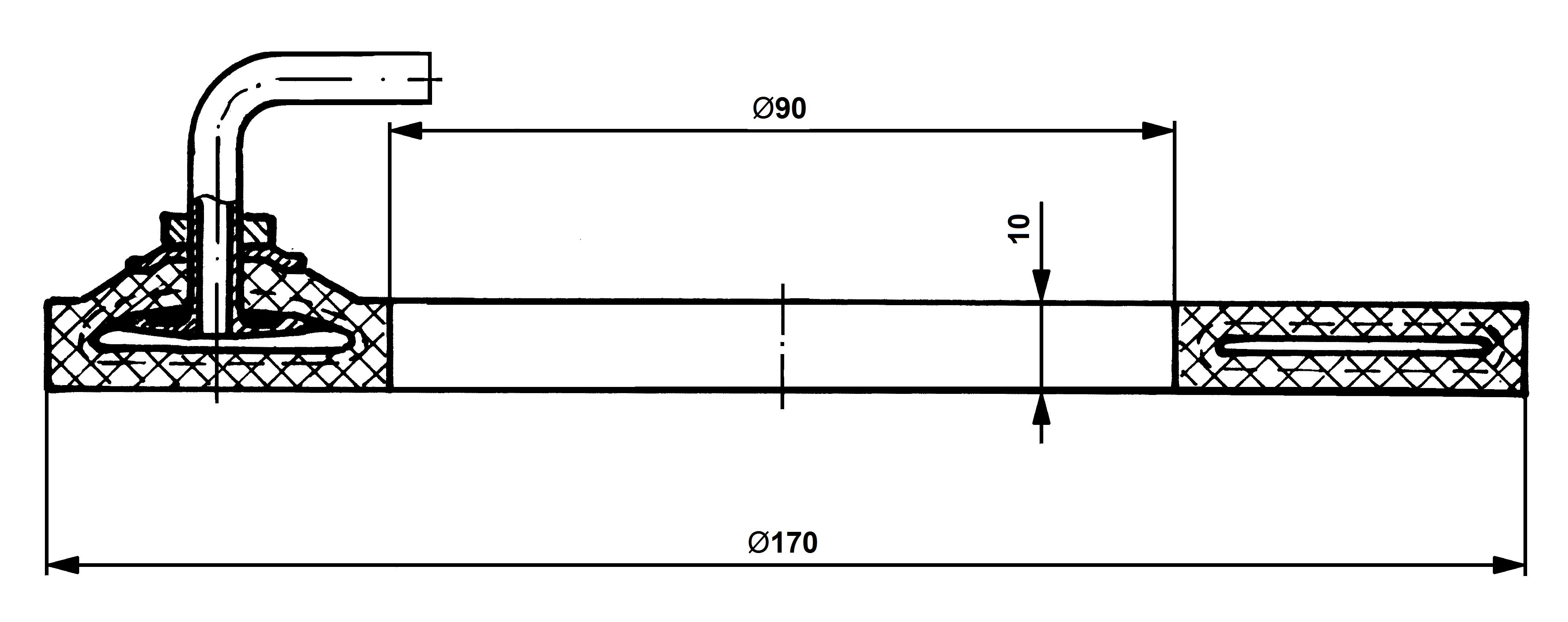 Flat clutch tube 170-90x10