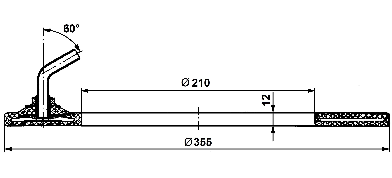 Dętka sprzęgłowa 355/210x12